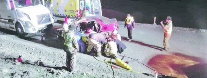 Conductor en estado grave luego de violento accidente en ruta fueguina