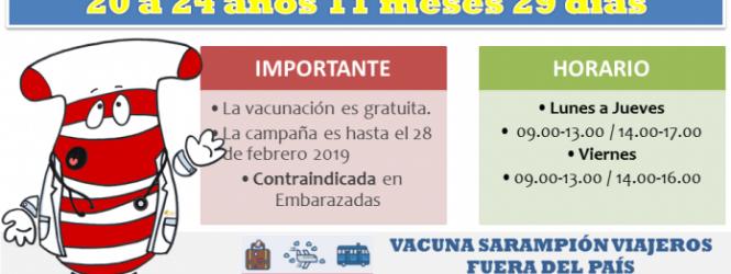 VACUNACIÓN CONTRA EL SARAMPIÓN INICIÓ VACUNATORIO DEL HOSPITAL DE PORVENIR