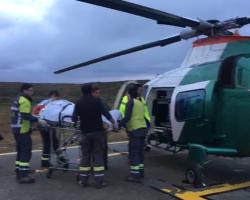 Grave fue trasladado capataz de estancia tras volcar en Tierra del Fuego