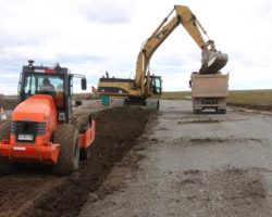 Empresa constructora sufre robo de máquina retro excavadora en las cercanías de la frontera de San Sebastián en Tierra del Fuego