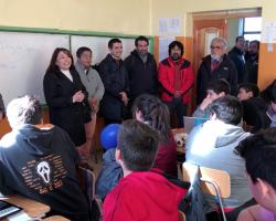 Provechosa resultó visita de enviados del ministerio de educación para proyectar una nueva escuela Bernardo O'Higgins